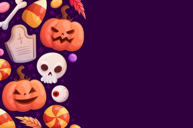 Ręcznie rysowane tła halloween