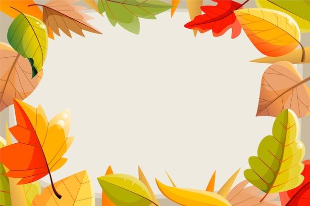 Ręcznie rysowane tła jesień