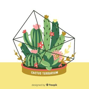 Ręcznie rysowane tła kaktus