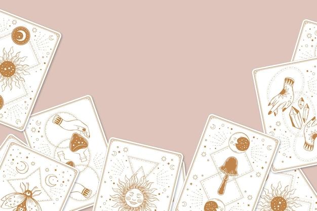Ręcznie rysowane tła kart tarota