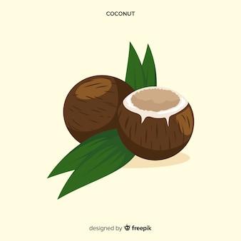 Ręcznie rysowane tła kokosowe