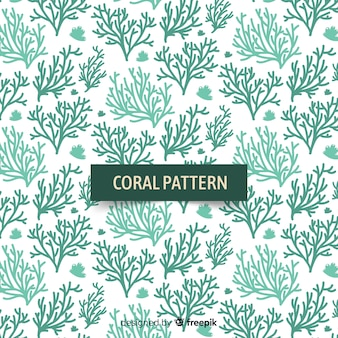 Ręcznie rysowane tła koralowców