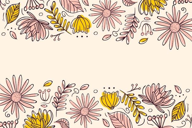 Ręcznie rysowane tła kwiatów