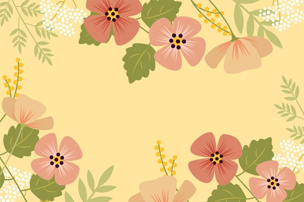 Ręcznie rysowane tła kwiatowy wiosna