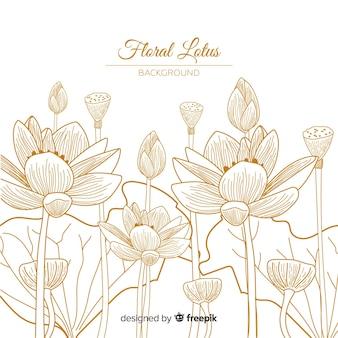 Ręcznie rysowane tła kwiatu