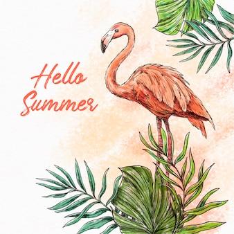Ręcznie rysowane tła lato