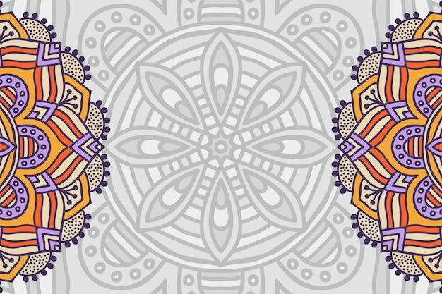 Ręcznie rysowane tła mandali