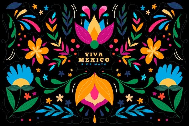 Ręcznie rysowane tła meksykańskie cinco de mayo