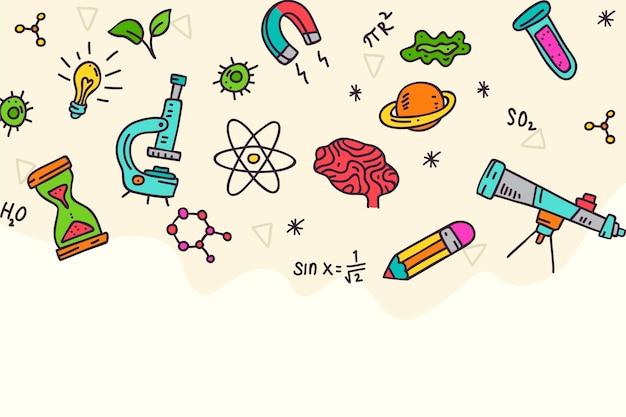 Ręcznie rysowane tła nauki