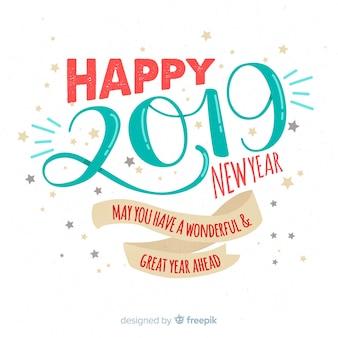 Ręcznie rysowane tła nowy rok