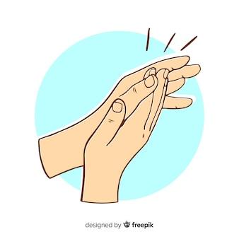 Ręcznie rysowane tła oklaski