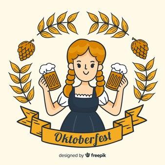 Ręcznie rysowane tła oktoberfest