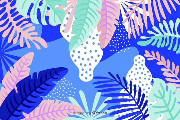 Ręcznie rysowane tła roślin tropikalnych