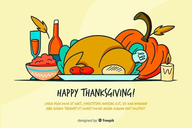 Ręcznie rysowane tła święto dziękczynienia
