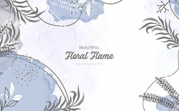 Ręcznie rysowane tła w stylu kwiatowym