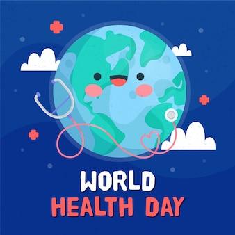 Ręcznie rysowane tła zdrowia dzień świata