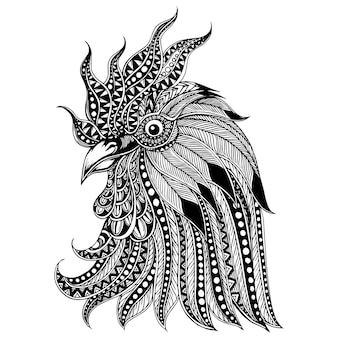 Ręcznie rysowane tło koguta