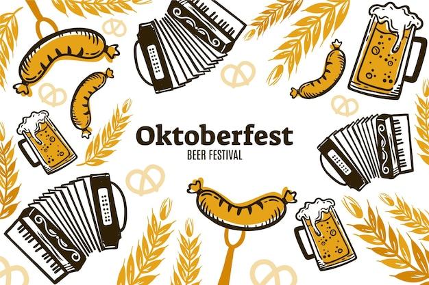 Ręcznie rysowane tło oktoberfest