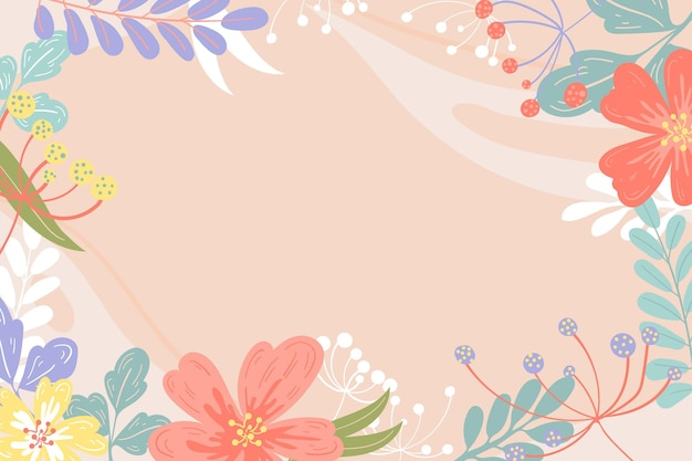 Ręcznie rysowane tło wiosna