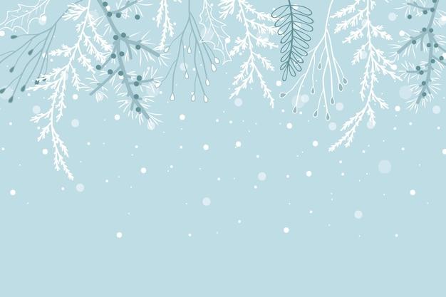 Ręcznie rysowane tło zima