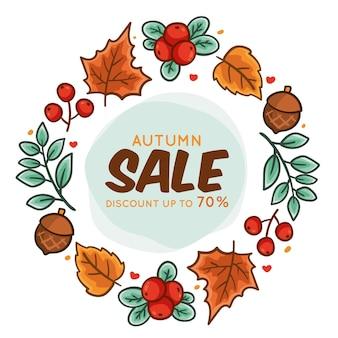 Ręcznie rysowane transparent jesień sprzedaż