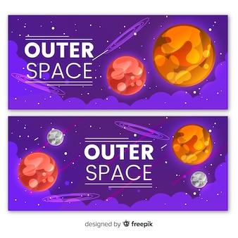 Ręcznie rysowane transparentu kosmosu