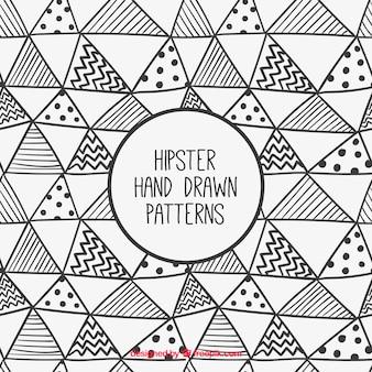 Ręcznie rysowane trójkąty hipster wzór