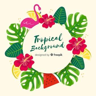 Ręcznie rysowane tropikalny tło