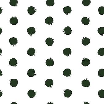 Ręcznie rysowane tuszem polka dot wzór