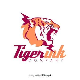 Ręcznie rysowane tygrys logo tło