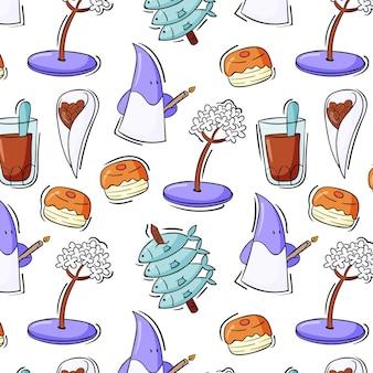 Ręcznie rysowane typowe jedzenie z malagi?