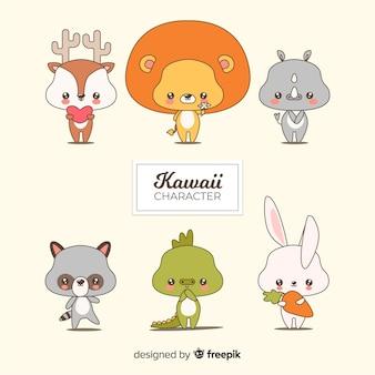 Ręcznie rysowane urocza kolekcja zwierząt
