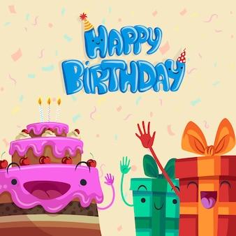 Ręcznie rysowane urodziny tło
