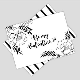 Ręcznie rysowane valentine greeting card