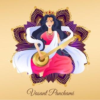 Ręcznie rysowane vasant panchami