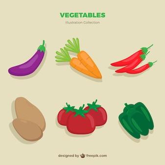 Ręcznie rysowane warzywa paczka