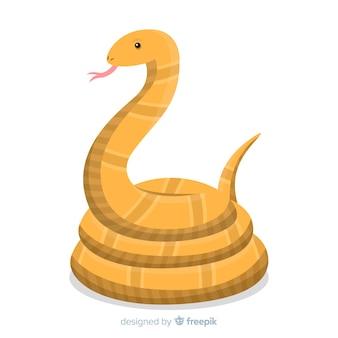 Ręcznie rysowane wąż syczący tło