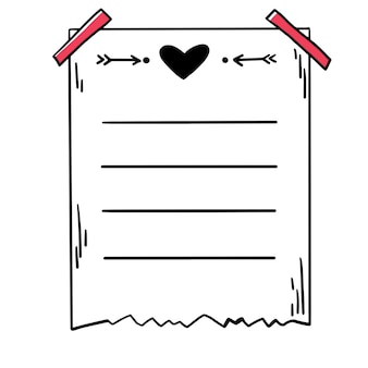 Ręcznie rysowane wektor ładny kula dziennika papier planner uwaga strony