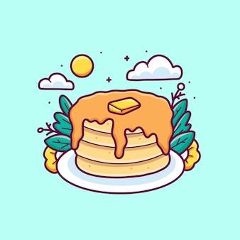 Ręcznie rysowane wektor ładny projekt ilustracji ciasta