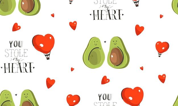 Ręcznie rysowane wektor streszczenie nowoczesny kreskówka koncepcja happy valentines day