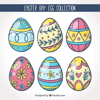 Ręcznie rysowane wielkanocne dzień jaj
