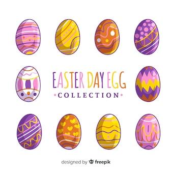 Ręcznie rysowane wielkanocne jajko kolekcji