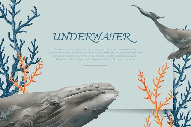 Ręcznie rysowane wieloryba