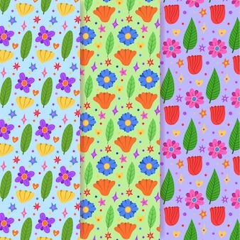 Ręcznie rysowane wiosenna kolekcja tupot