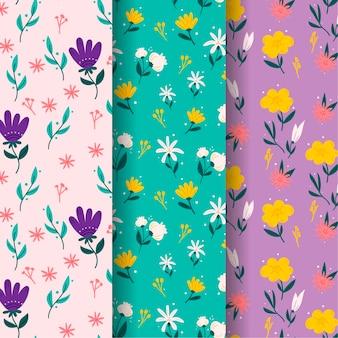 Ręcznie rysowane wiosenna kolekcja wzór