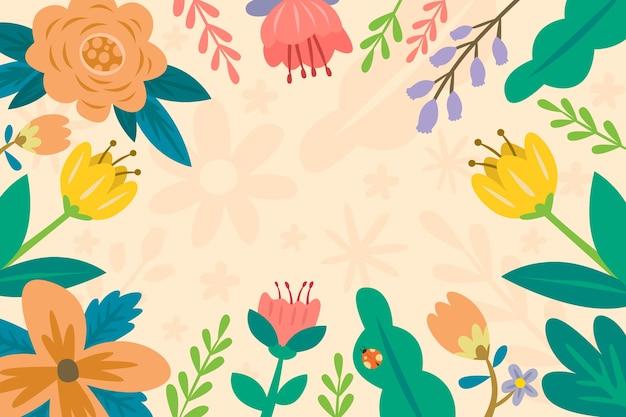 Ręcznie rysowane wiosenna tapeta