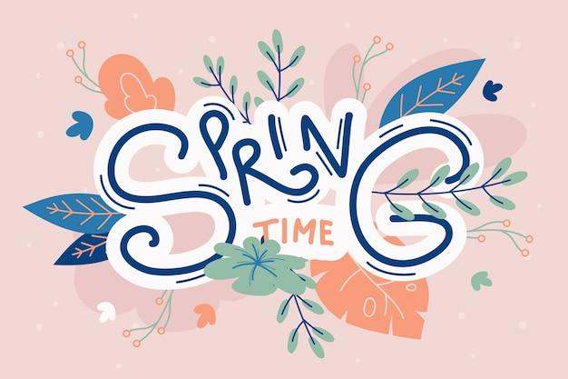 Ręcznie rysowane wiosna bacgkround