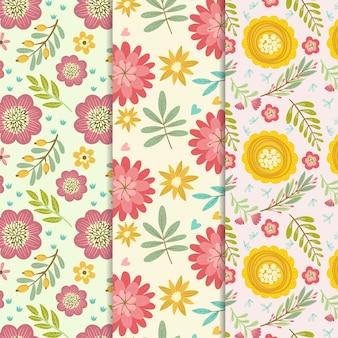 Ręcznie rysowane wiosna wzór kolekcji koncepcja