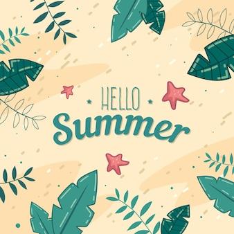 Ręcznie rysowane witaj w letnim stylu