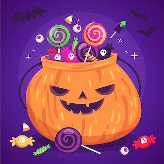Ręcznie rysowane worek halloween